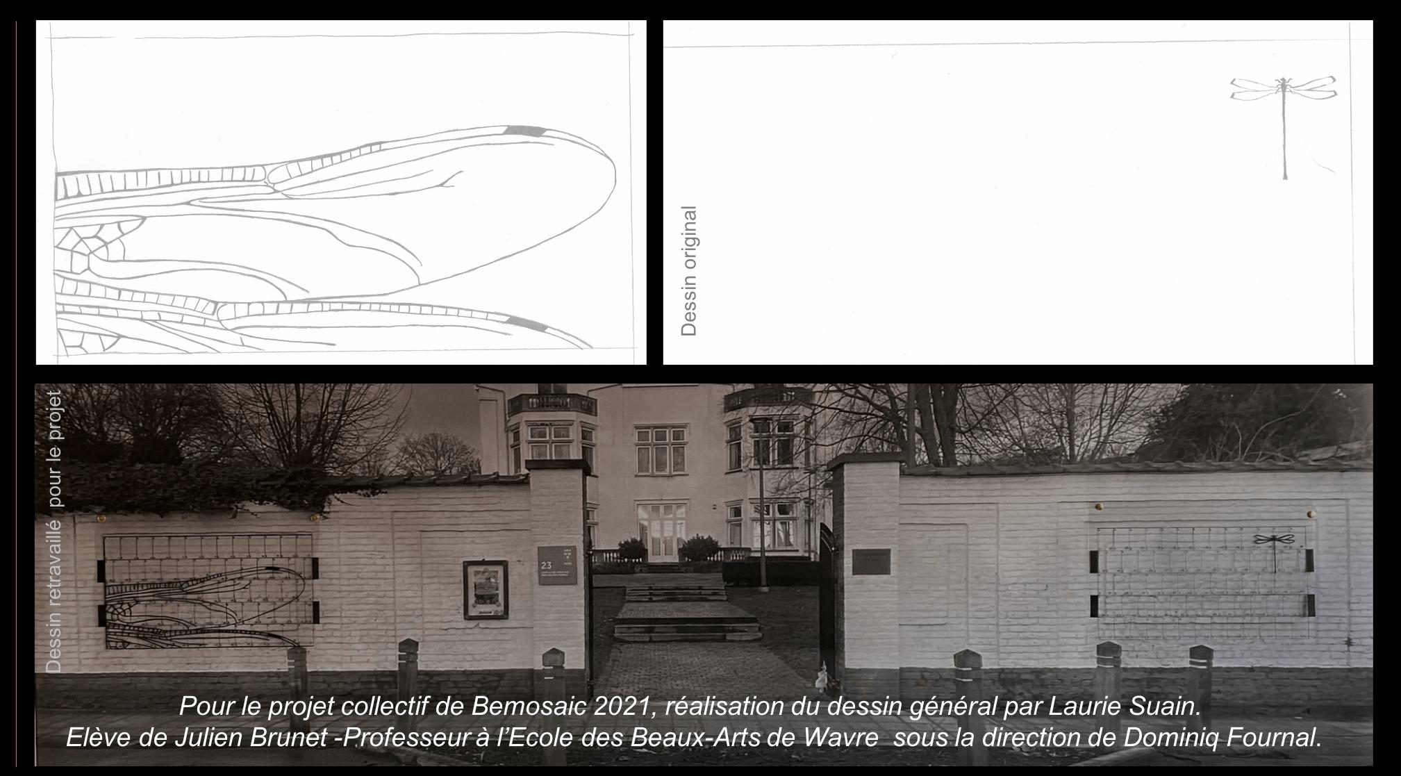Dessin général mosaïque collective Bemosaic 2021
